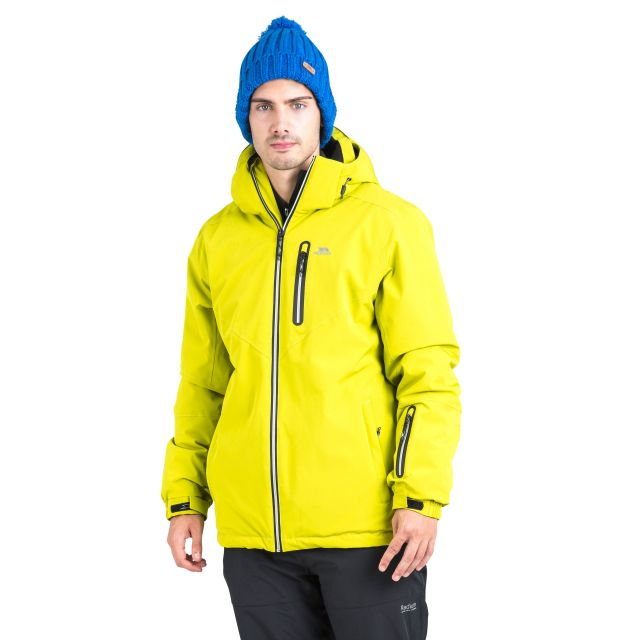 Duall Unisex Waterproof Ski Jacket in Neon Green