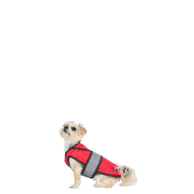 Duke 2017 Fleece Lined Waterproof Dog Coat in Red