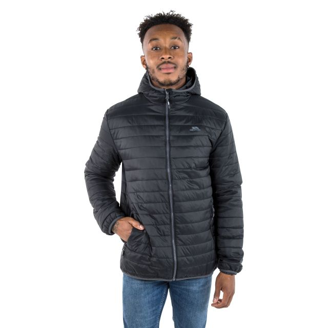 Dunbar Men's Hooded Lightweight Jacket in Black
