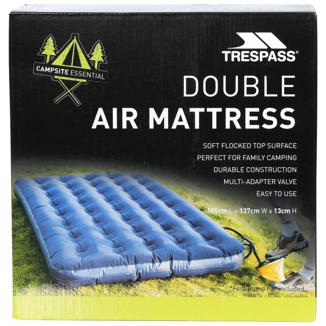 Inflatable Double Mattress 185cm in Blue