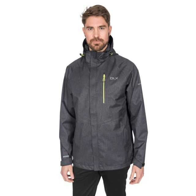 Dupree Men's DLX Waterproof Jacket in Black
