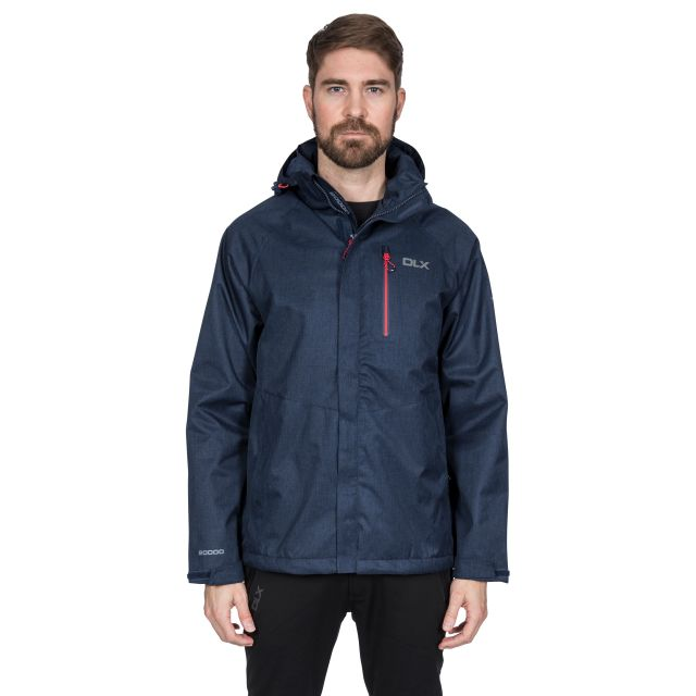 Dupree Men's DLX Waterproof Jacket in Navy