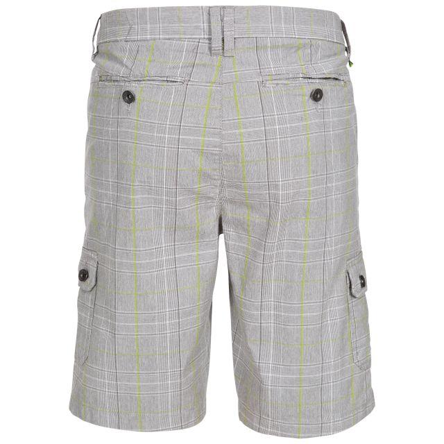Earwig Men's Checked Cargo Shorts in Beige