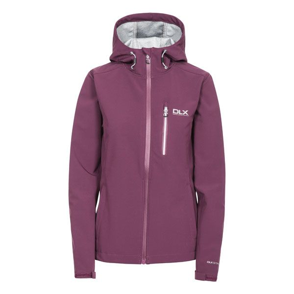Edin Women's DLX Softshell Jacket in Burgundy