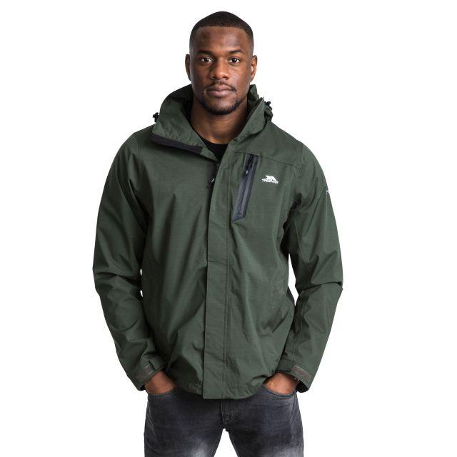 Edisan Men's Waterproof with Detachable Hood in Green
