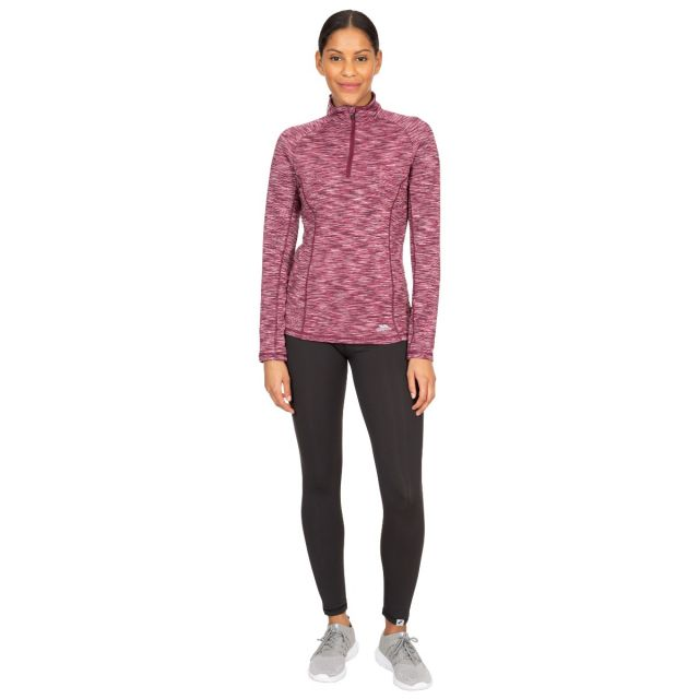 Edith Women's Long Sleeve Active Top in Purple