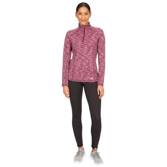 Edith Women's Long Sleeve Active Top in Purple