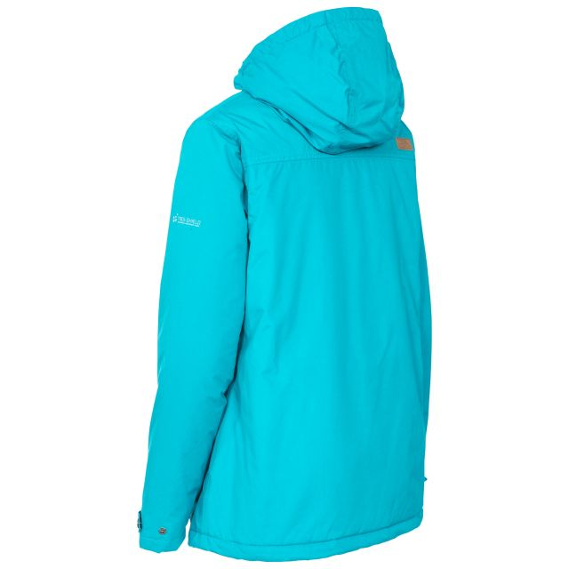 Trespass Womens Waterproof Jacket Padded Edna Marine Blue