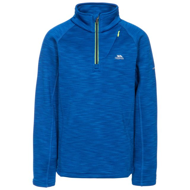Edvin Kids' Half Zip Fleece in Blue