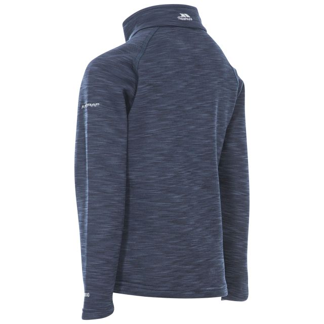 Edvin Kids' Half Zip Fleece in Navy