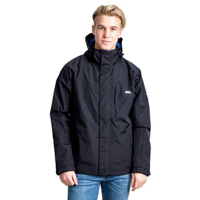 Edwards II Men's Breathable Waterproof Jacket in Black