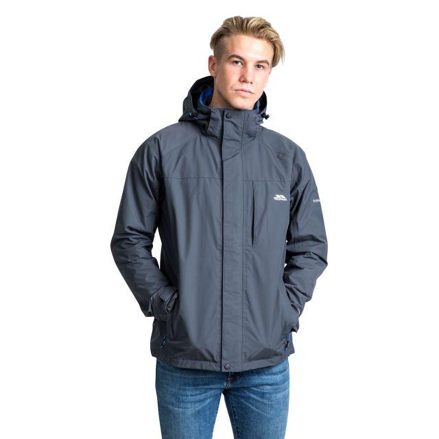 Edwards II Men's Breathable Waterproof Jacket in Grey