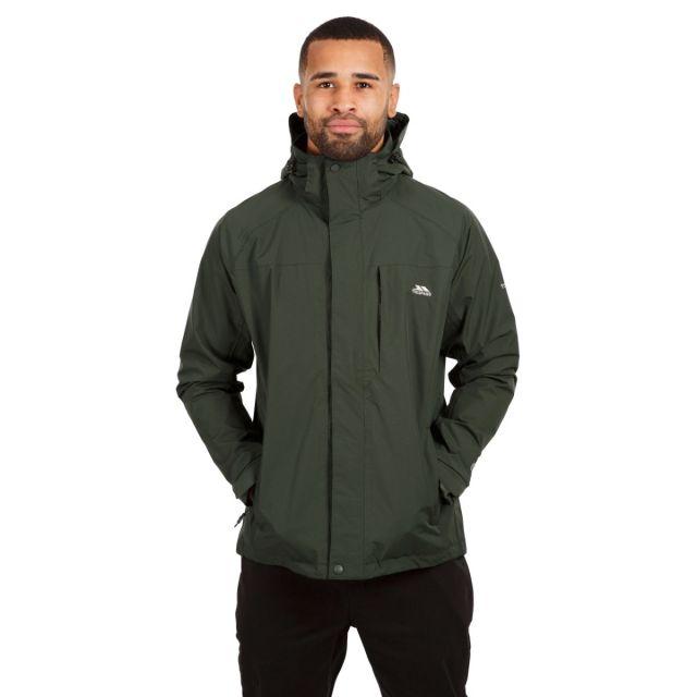 Edwards II Men's Breathable Waterproof Jacket in Khaki