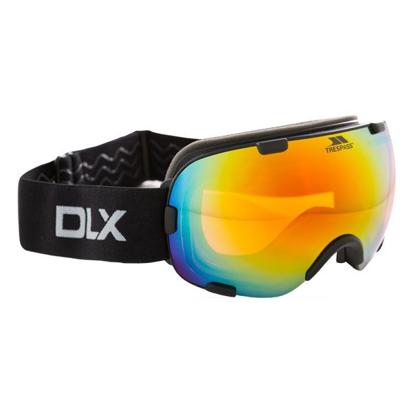 Elba Adults' DLX Ski Goggles in Black