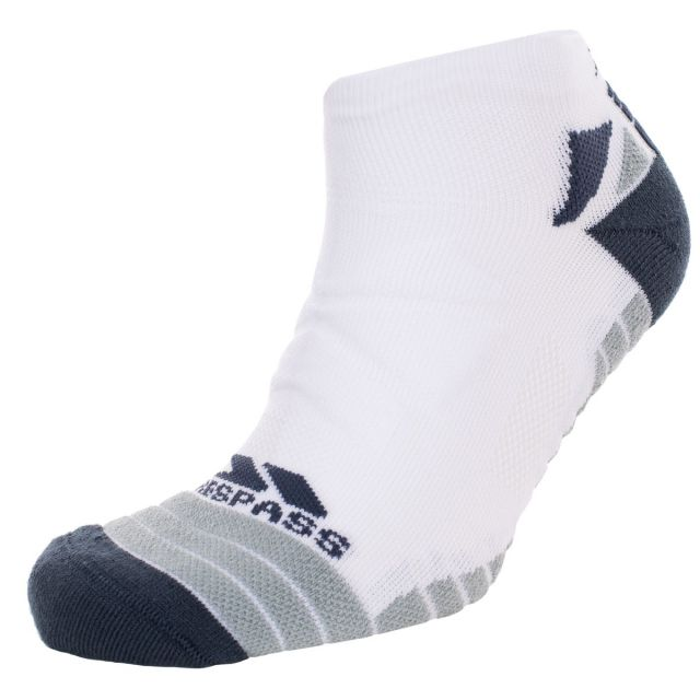Trespass Adults Trainer Socks Compression Elevation White