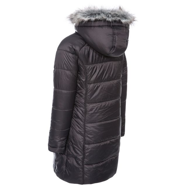Trespass Kids Padded Casual Jacket in Black Elimore