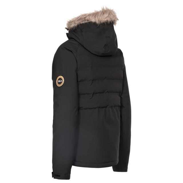 DLX Womens Ski Jacket with RECCO Elisabeth in Black