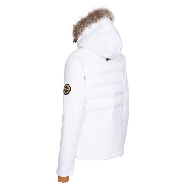 DLX Womens Ski Jacket with RECCO Elisabeth in White