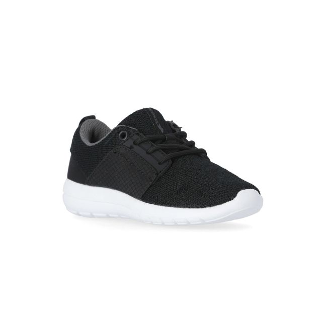 Elwood Kids' Lightweight Trainers in Black