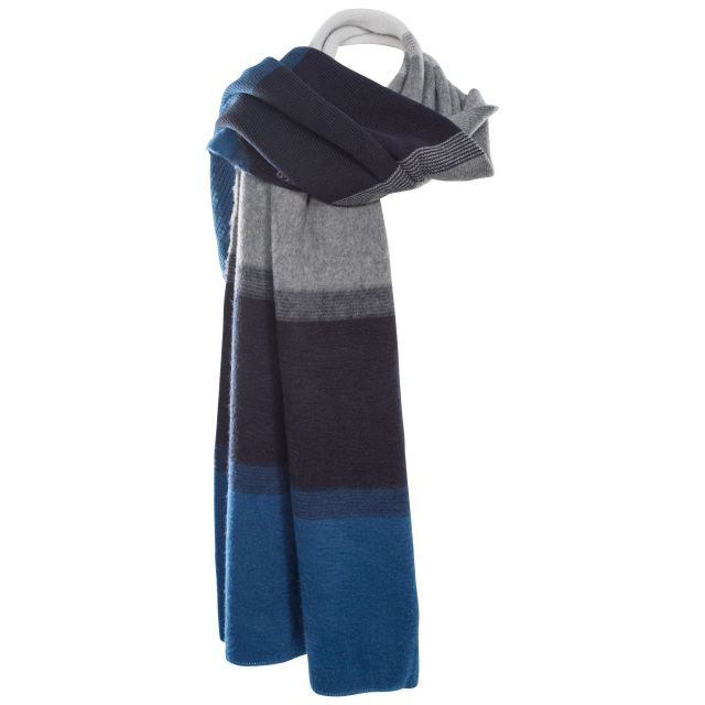Embrace Unisex Knitted Scarf in Blue