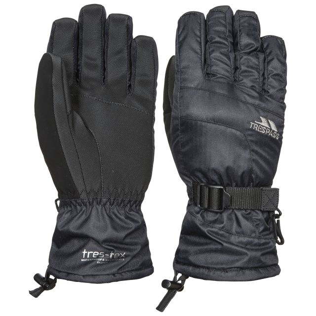 Embray Unisex Ski Gloves in Black