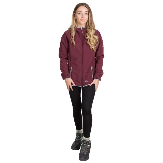 Emery Women's Hooded Softshell Jacket in Purple