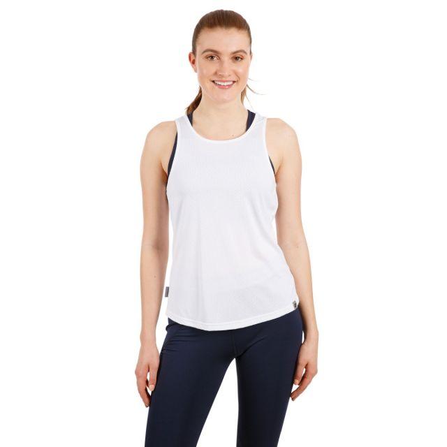 Trespass Women's Sleeveless Vest Top Emmalyn White