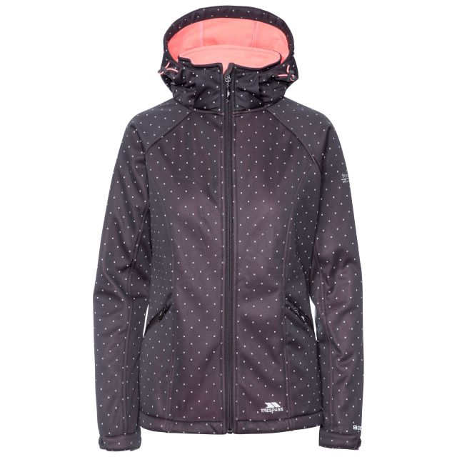 Emulate Women's Hooded Softshell Jacket in Black