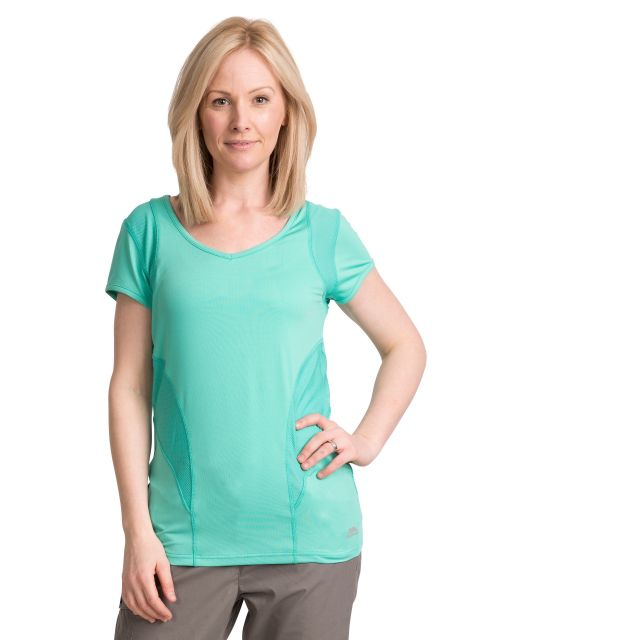 Erlin Women's V-Neck Active T-shirt in Light Blue