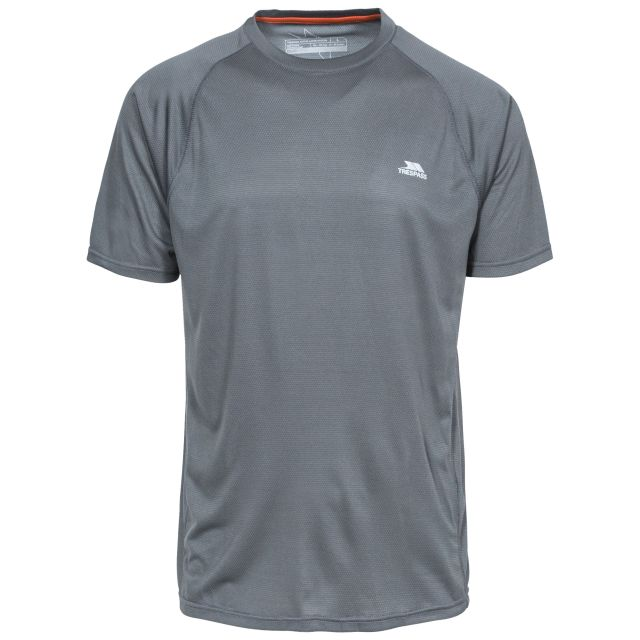 Esker Men's Quick Dry Active T-Shirt in Grey