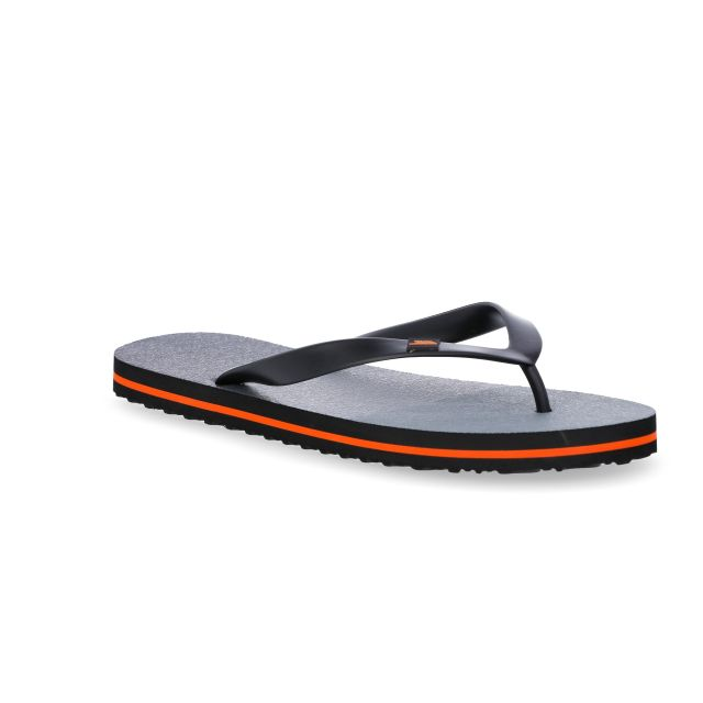 Esten Men's Cushioned Flip Flops in Grey