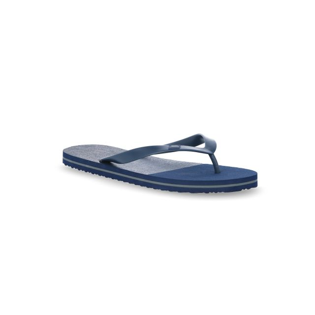 Esten Men's Cushioned Flip Flops in Navy