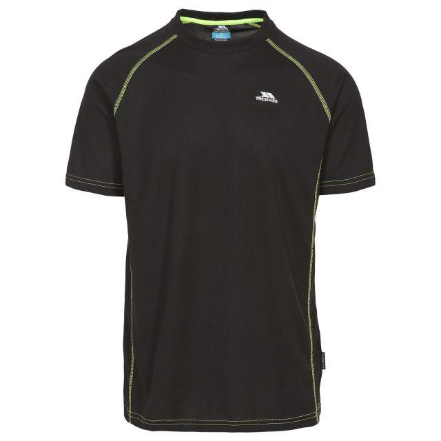 Ethen Men's Short Raglan Sleeve Active T-Shirt - BLK