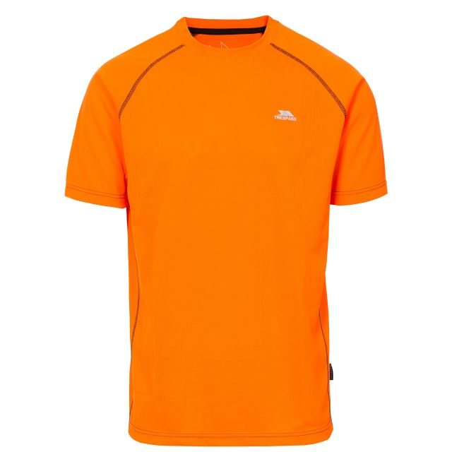Ethen Men's Short Raglan Sleeve Active T-Shirt in Orange