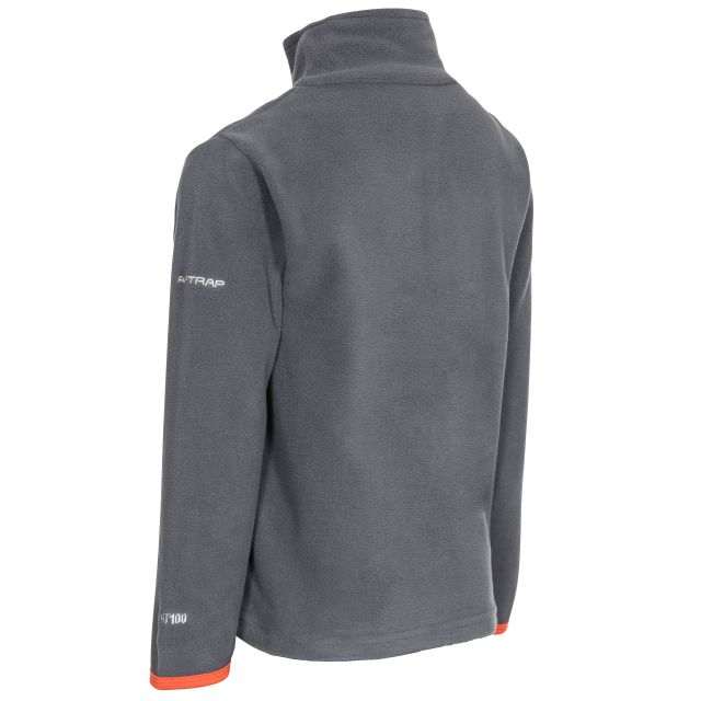 Etto Kids' Half Zip Fleece in Grey