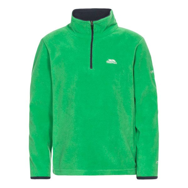 Etto Kids' Half Zip Fleece in Green