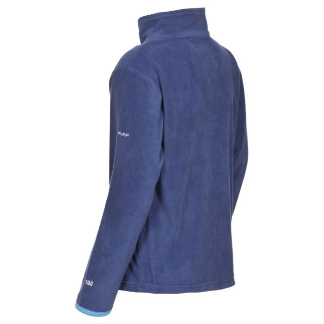 Etto Kids' Half Zip Fleece in Navy
