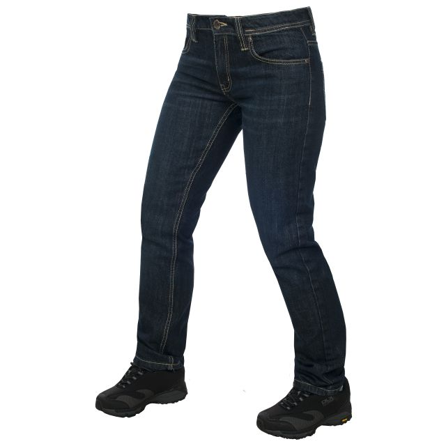 Tulisa Womens Dark Denim Straight Leg Jeans in Navy