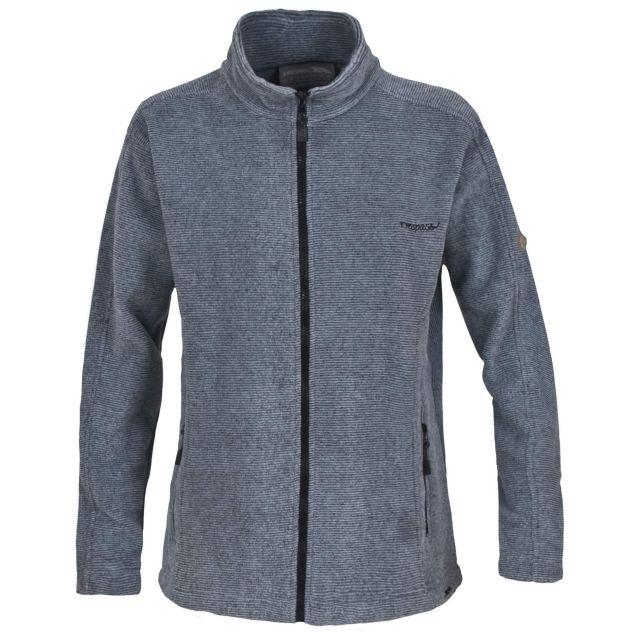 Minx Womens Full Zip Fleece Jacket in Brown