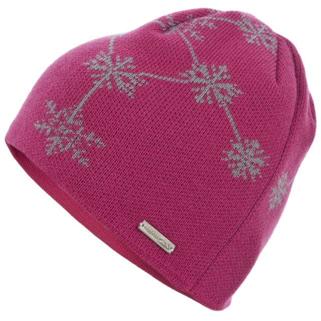 FROZE Patterned Beanie  in Pink