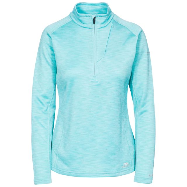 Fairford Women's 1/2 Zip Fleece in Light Blue