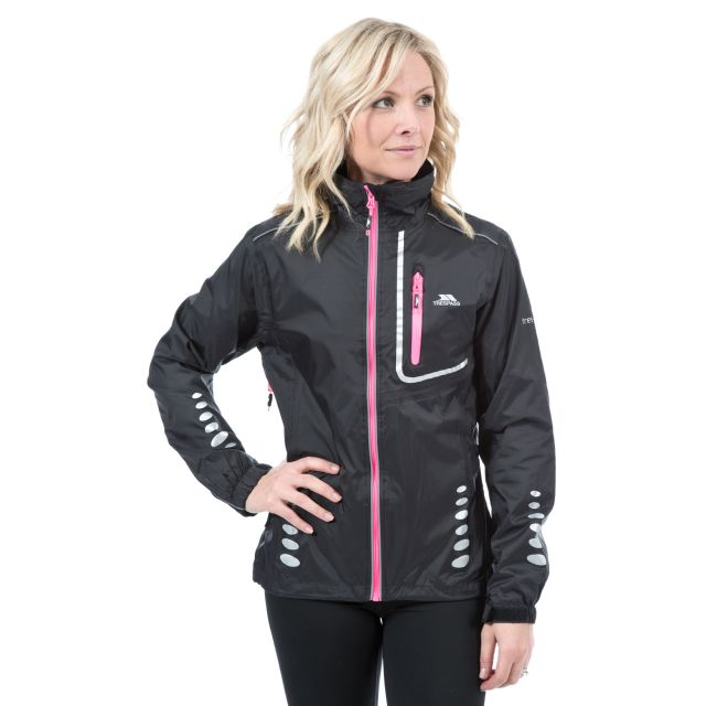Trespass Womens Waterproof Jacket Breathable Fairing Black