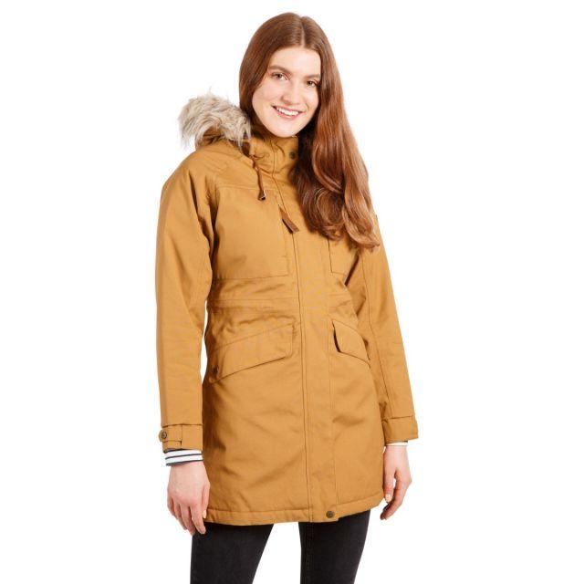 Faithful Women's Waterproof Parka Jacket in Yellow