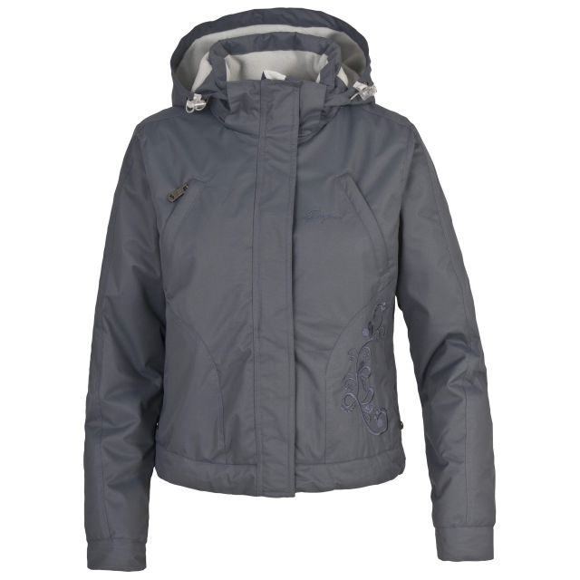 Lisette Women's Windproof Padded Hooded Jacket in Grey
