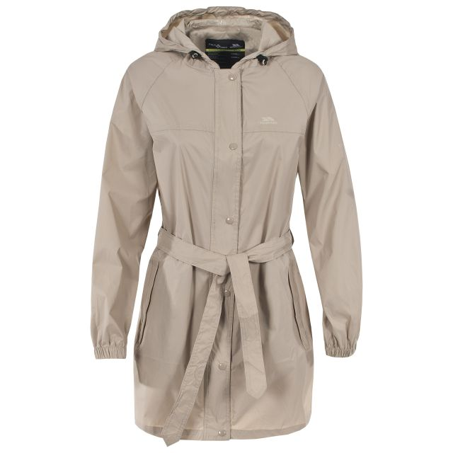 Trespass Womens Packaway Jacket Waterproof Compac Mac Tan