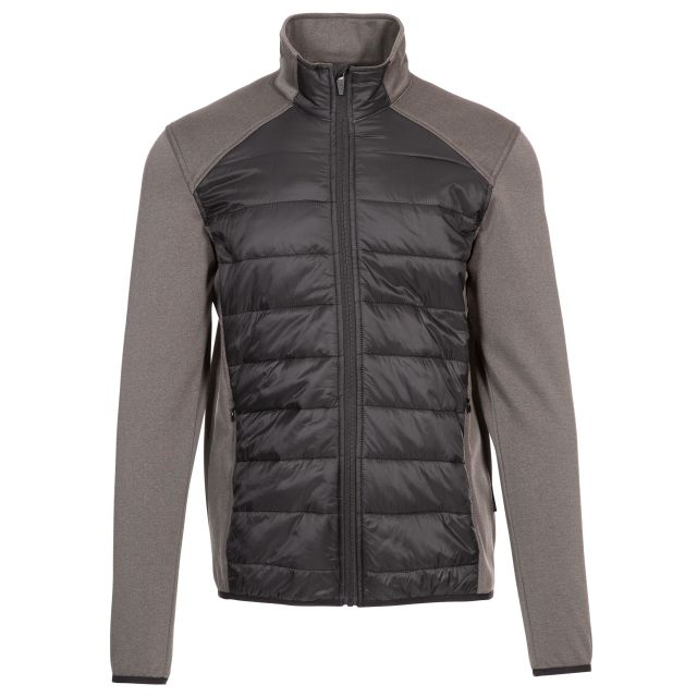 Falfieldkirk Men's Quilted Fleece Jacket in Black