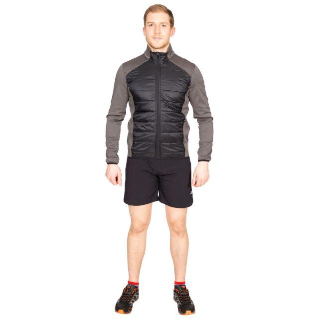 Falfieldkirk Men's Quilted Fleece Jacket in Black