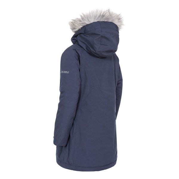 Fame Girls' Waterproof Parka Jacket in Navy