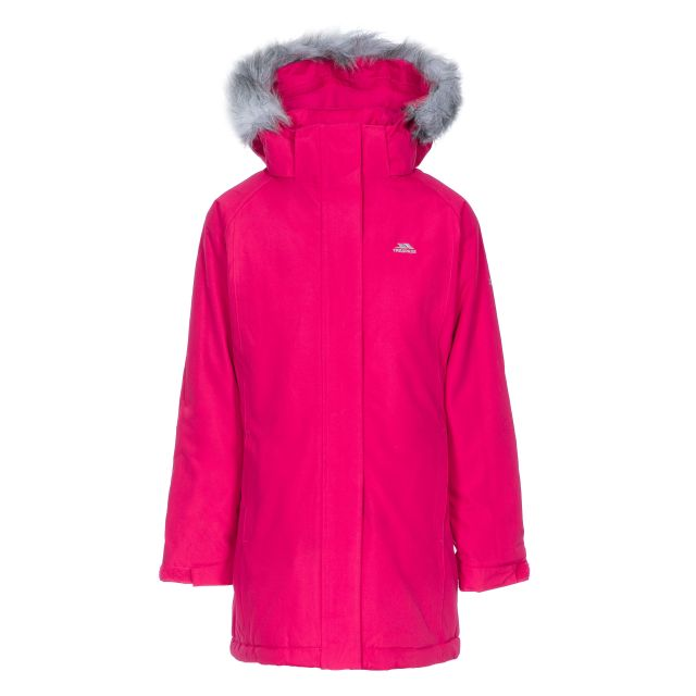 Fame Girls' Waterproof Parka Jacket in Pink