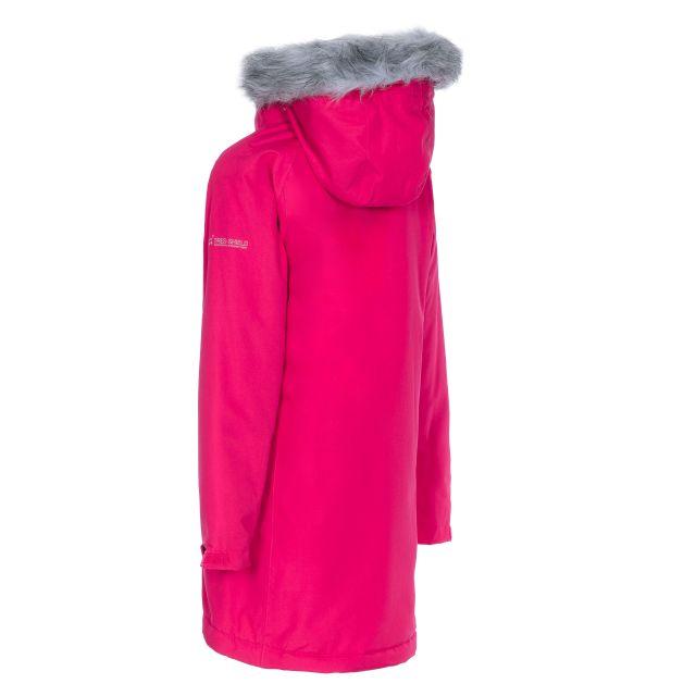 Fame Girls' Waterproof Parka Jacket in Pink